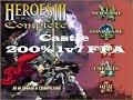 Heroes of Might and Magic III - Castle 200% Random Map (XL Size) - 1v7 AI FFA [Longplay]