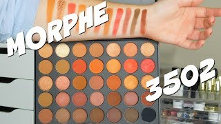 MORPHE 35O2 SECOND NATURE PALETTE SWATCHES!