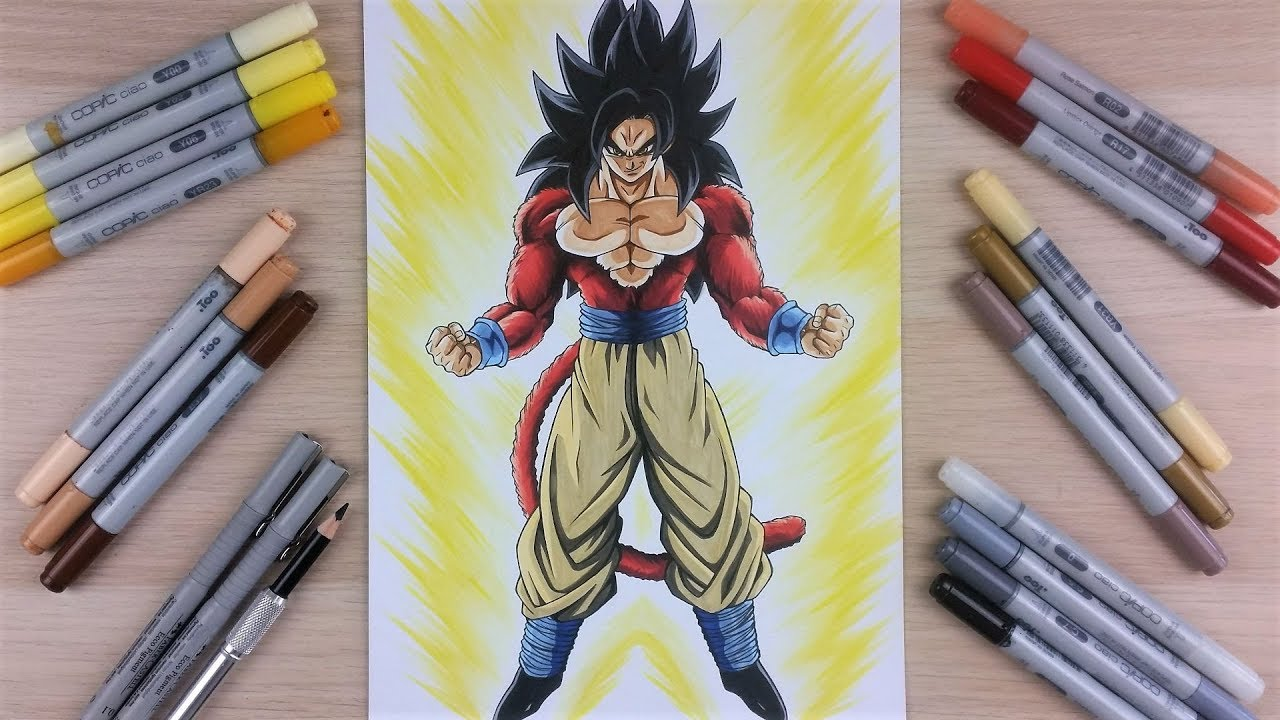 Drawing Goku Ssj4 Full Body Tolgart Youtube