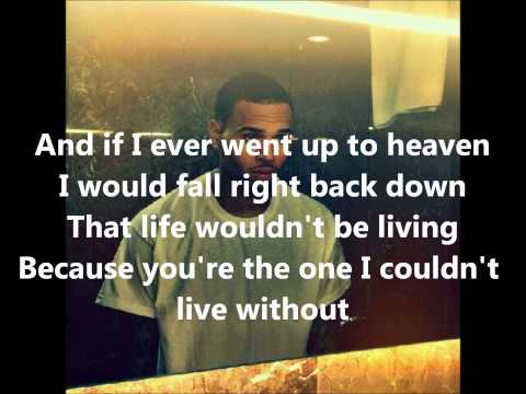 Chris Brown - Without You (Lyrics)
