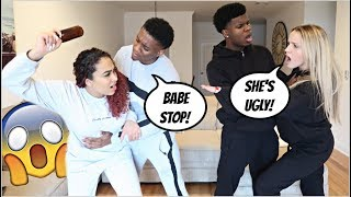 ARGUING IN FRONT OF OUR BOYFRIENDS PRANK!! *BAD IDEA* W/ TRICIA & KAM