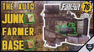 FALLOUT 76 - The AFK Junk Farmer Base Design (base build guide)