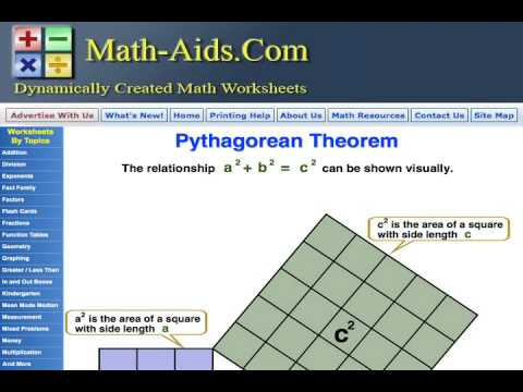 math aids com dynamically created math worksheets youtube. Black Bedroom Furniture Sets. Home Design Ideas