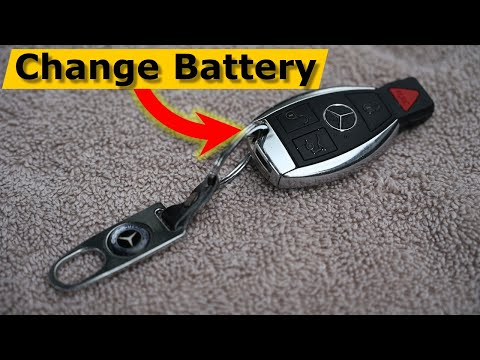 How to Change Mercedes Benz Remote Key Battery TRICK To Open It!