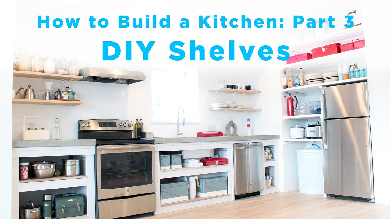diy kitchen shelves part 3 of the total diy kitchen series. beautiful ideas. Home Design Ideas