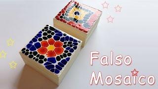 Manualidades: como hacer Falso Mosaico - Manualidades para todos