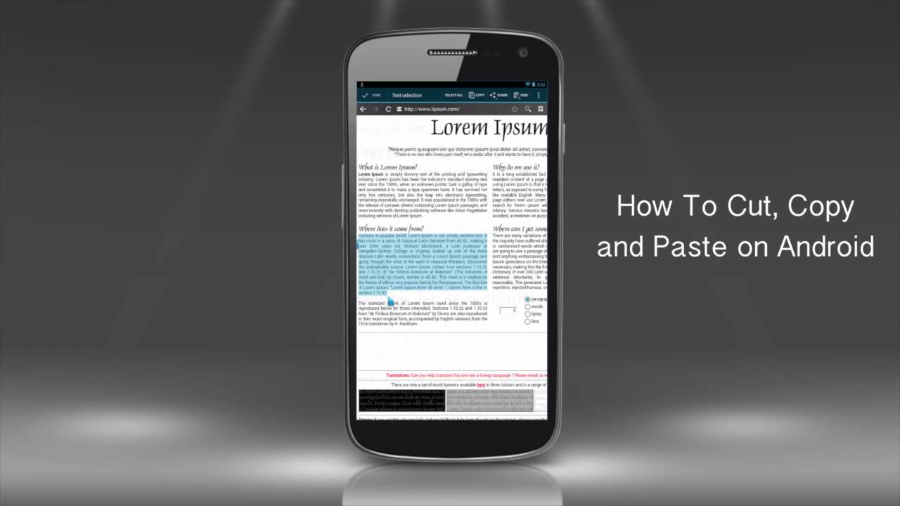 How to Cut, Copy and Paste Text on Android Phone