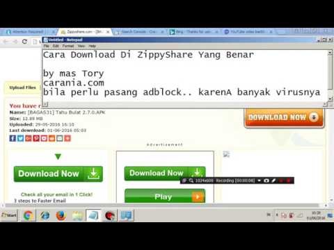 Cara Download Di ZippyShare Yang Benar