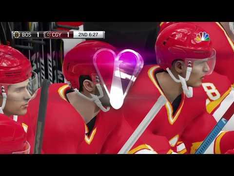NHL 19 - Boston Bruins Vs Calgary Flames Gameplay - NHL Preseason Season Match Sep 14, 2018