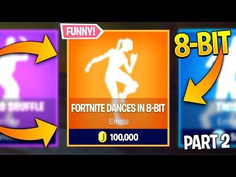 Fortnite Dances in 8-BIT..! pt.2