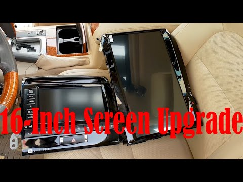 Tesla Style Land Cruiser 200 16-inch Android Screen Unboxing & Demo