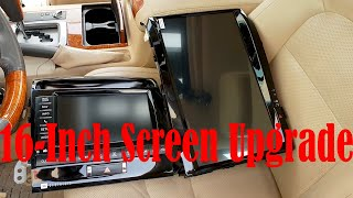 Tesla Style Land Cruiser 200 16 inch Android Screen Unboxing Demo