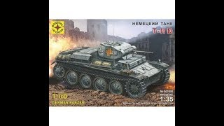 303508 Моделист 1/35 Немецкий танк Т II D обзор