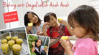Baking for Kids | Anti Gagal No Mixer No Oven | Zara Cute membuat Cup Cakes Bolu Lemon