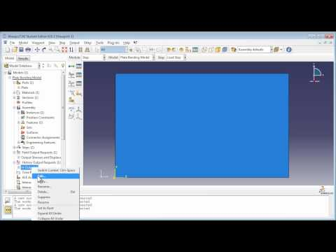 Planar Shell (Plate) Bending Analysis: This is a free tutorial on modeling plate structures in Abaqus.   This video demonstration can be used to accompany the book