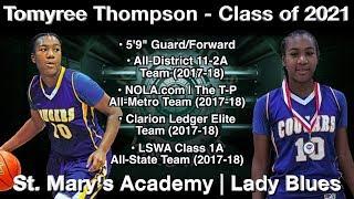 Tomyree Thompson Highlights (2018 BOB/Summer League) - St. Mary's/Lady Blues 2021 G