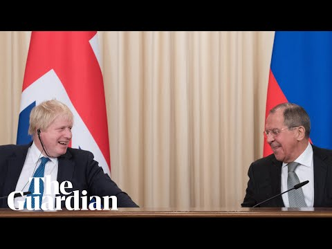 Boris Johnson and Sergei Lavrov clash over claims of Russian meddling in Brexit vote