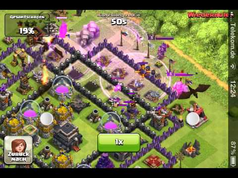 Clash of clans - dragon pekka attack