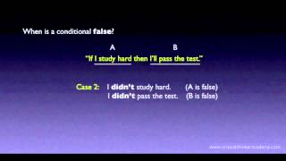 Propositional Logic: Conditionals Thumbnail