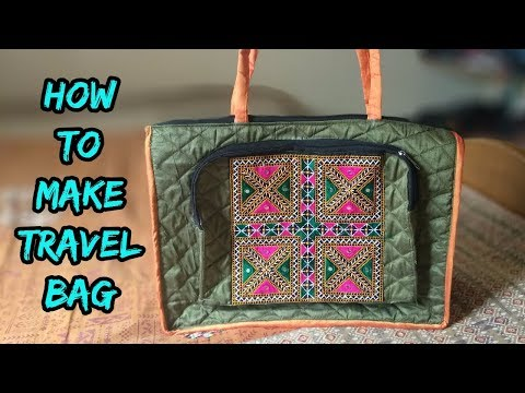 travel bag for woman making at home DIY 2018