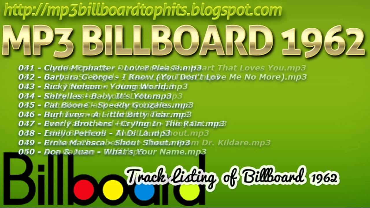 Mp3 BILLBOARD 1962 TOP Hits