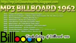 mp3 BILLBOARD 1962 TOP Hits mp3 BILLBOARD 1962