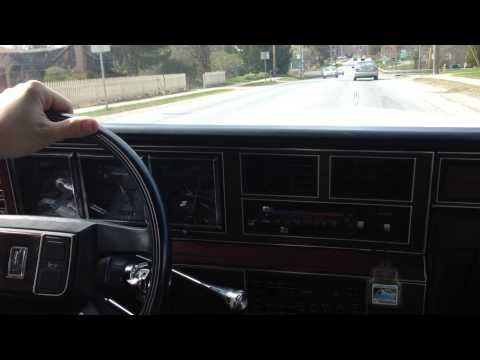 1988 Lincoln Town Car on the road