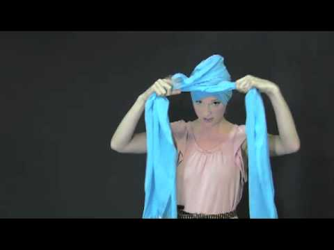how to make a turban with a scarf