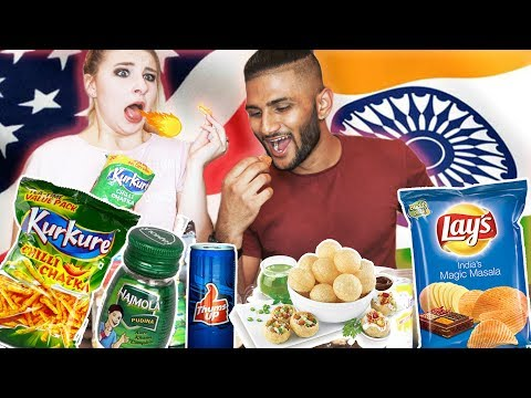 My American Girlfriend Tries Indian Snacks