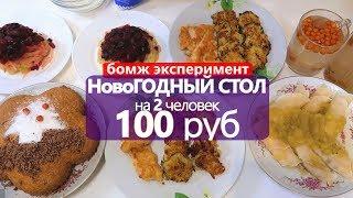 НовоГОДНИЙ СТОЛ на 100 РУБ  // на 2 ЧЕЛОВЕК
