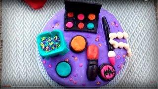 ফনডেন্ট দিয়ে মেকআপ কেক || Fondant decoration cake bangla || Fondant Makeup Cake
