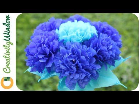 Royal Blue Motif Paper Flower Centerpiece Youtube