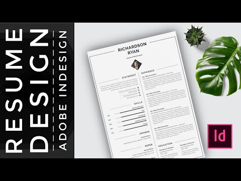 How to Create a CV/RESUME template in Indesign  Indesign - YouTube