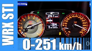 2016 Subaru WRX STI FAST! 0-251 km/h Acceleration Like us on Facebo...