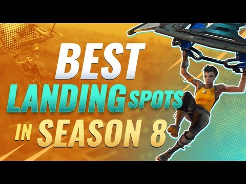 4 Landing Spots for CONSISTENT WINS in Fortnite Season 8 - Tips and Tricks