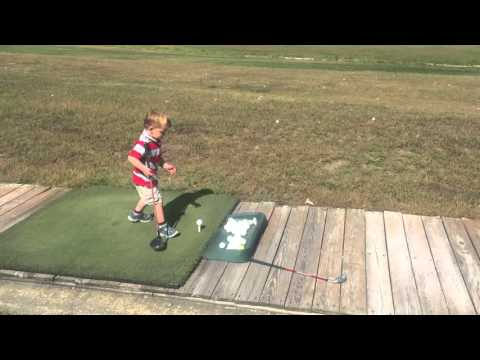 Ari's golf shots at the driving range