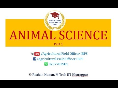 ANIMAL SCIENCE Part 1 for AFO IBPS, NABARD, JRF etc.