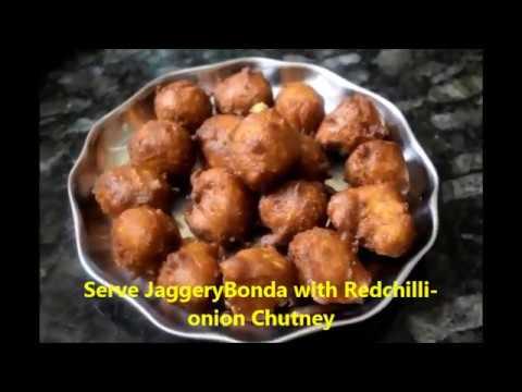 Yummy Jaggery-Wheat Flour Bonda with Redchilli Chutney -EveningSnacks || JaggeryBonda ||Laxmiyoutube