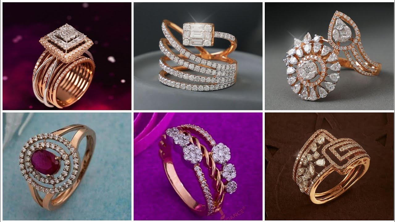 Latest Wedding Diamond Rings //Engagement Rings Designs
