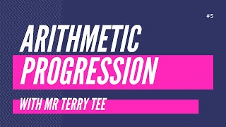 #1 QUICK REVIEW: ARITHMETIC PROGRESSIONS