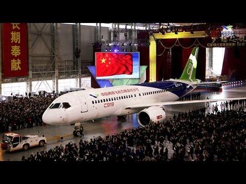 China Unveils First Large Passenger Jet
