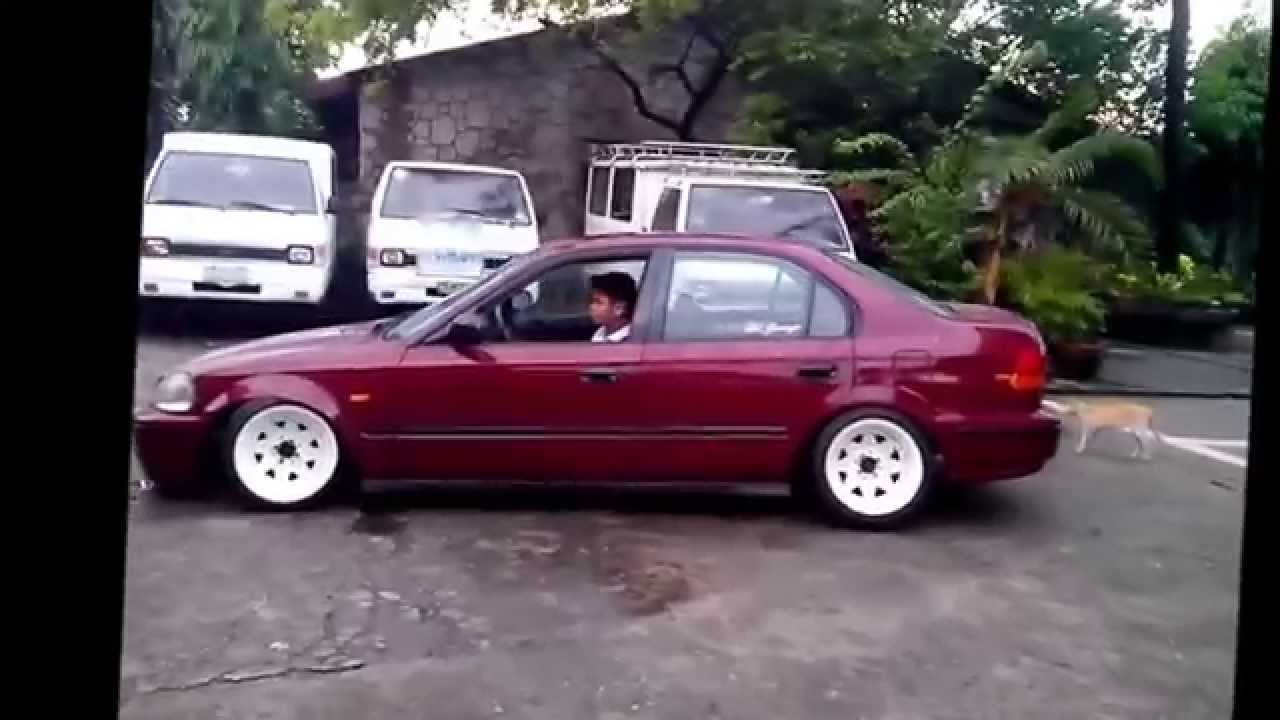 My Honda Ek Sedan On Diamond Racing Wheels Youtube