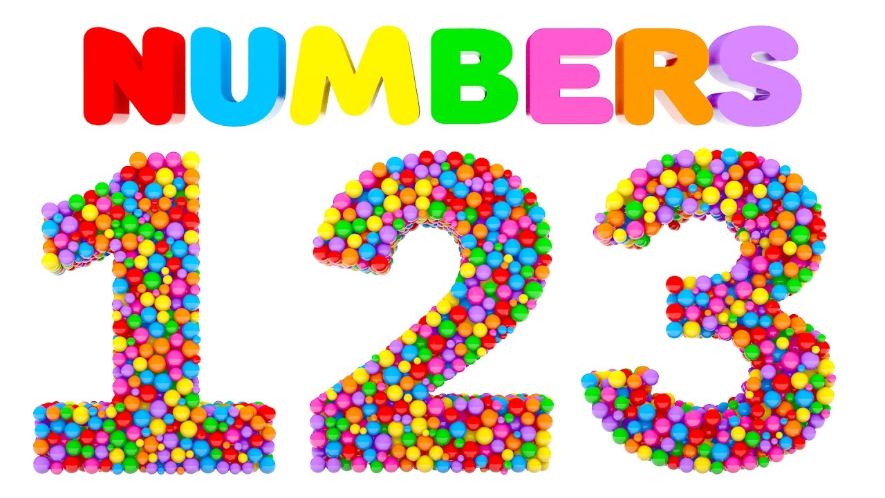 Learn Numbers with Colorful Balls - Colors and Numbers Videos for ...