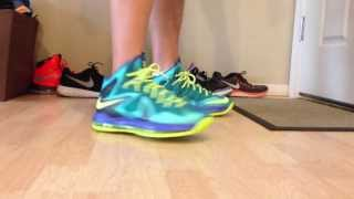 lebron elite x sport turquoise miami dade review on foot hd