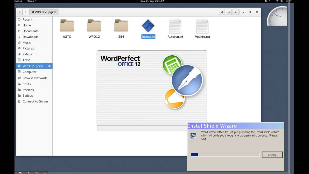 Failed install of wordperfect office 12 in wine 1912 youtube failed install of wordperfect office 12 in wine 1912 freerunsca Image collections