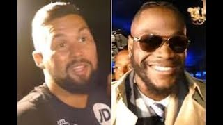 DEONTAY WILDER VS TONY BELLEW   (IM NOT MAD AT IT...HERES WHY) ???