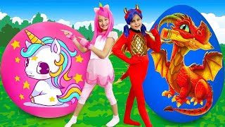 Download Sasha and Masha play with Surprise Eggs and gifts for Girls Mp3 and Videos