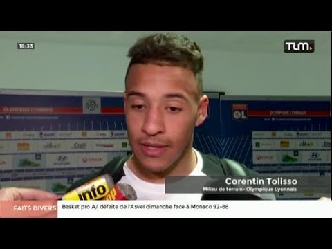 OL vs Lorient 1-4 : Interview de Corentin Tolisso