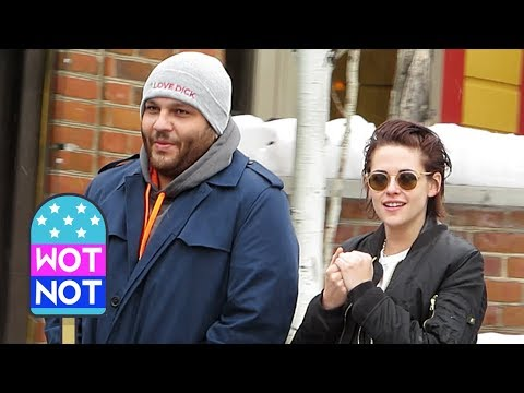 Kristen Stewart Laughs With Friend Wearing An 'I Love Dick' TV Show Winter Beanie