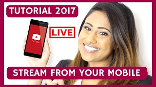 YOUTUBE MOBILE LIVE 🔴 How To do a Live Stream on Youtube From Your Phone - iphone & android